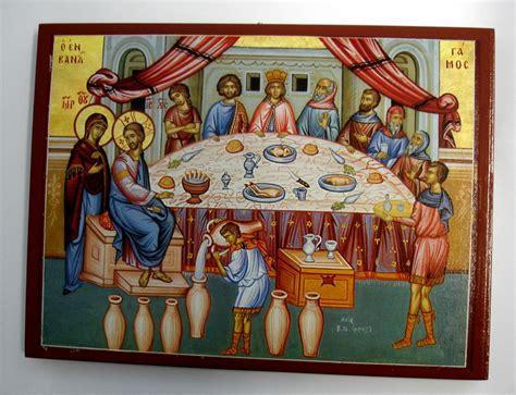 Hochzeit Kana by Hochzeit Zu Kana Jesus Ikone Icon Ikona Wedding At Cana