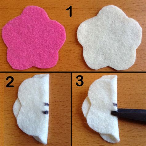 Handmade Felt Flowers Tutorial - crafts simple felt flower