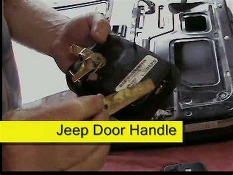 How To Remove Jeep Doors Door Handle Replacement Jeep Cj7 Or Wrangler Yj How To Diy