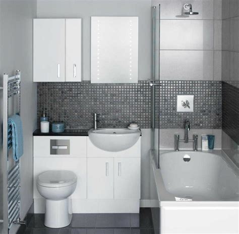 ideas for small bathrooms uk decoracion de ba 241 os en blanco y gris