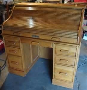 150 solid oak crest roll top locking furniture rolltop