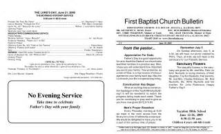 church bulletin templates best photos of baptist church program template church