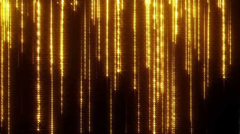 themes in rain of gold glittering particle streaks seamless looping raining