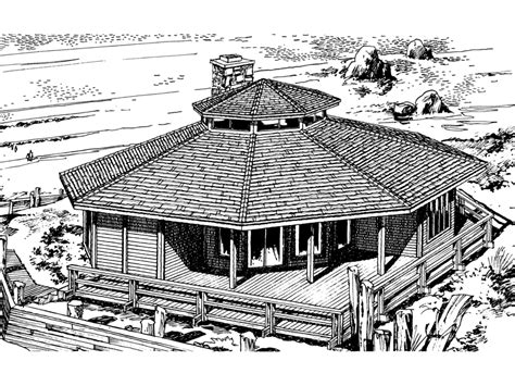 octagon shaped house plans howardville waterfront home plan 072d 0706 house plans