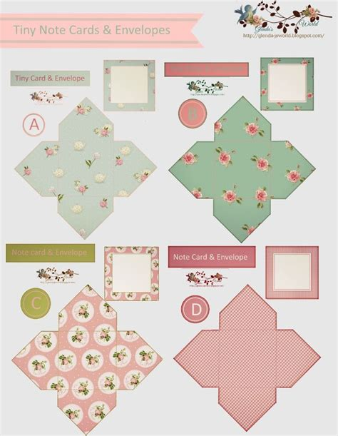 pattern for tiny envelope 7061 best miniature printables images on pinterest