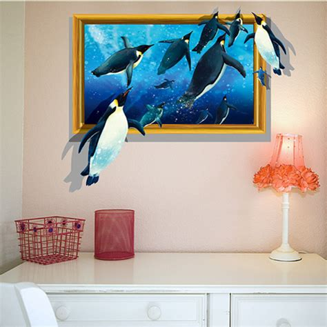 happy home decor latest amazing 3d antarctic penguin wall stickers home