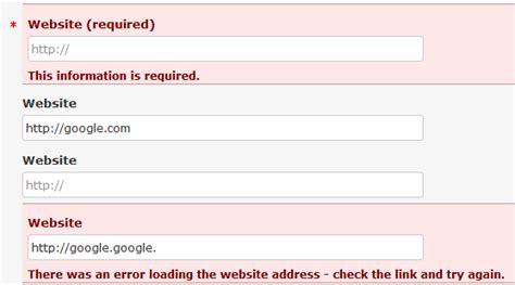 gravity forms enter a valid website url
