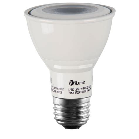 Lu Led Hannochs Basic 7w 7 Watt luminance 7w equivalent 3 000k par20 dimmable led spot light bulb l7530 the home depot