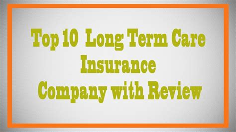top  long term care insurance youtube
