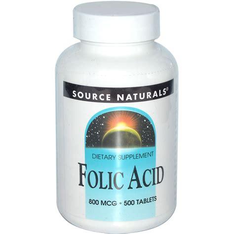Tablet Folic Acid Source Naturals Folic Acid 800 Mcg 500 Tablets Iherb