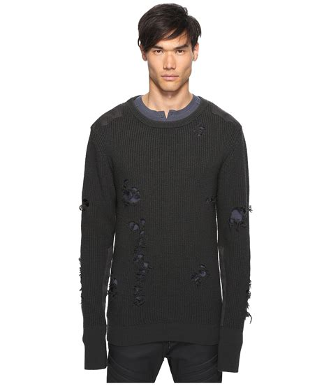 Sweater Adidas Mocincloth 1 adidas originals by kanye west yeezy season 1 destroyed wool sweater at luxury zappos