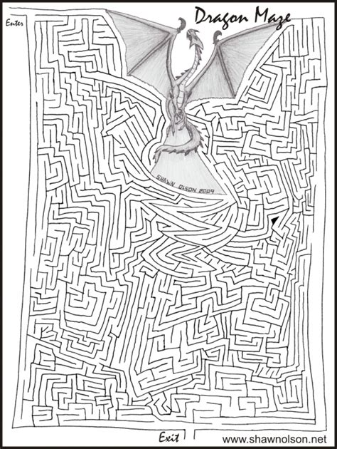 printable dragon mazes dragon maze
