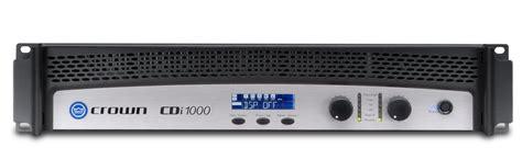 Stereo Lightweight Lifier Ecler Lpa 6000 Original cdi 1000 crown audio professional power lifiers