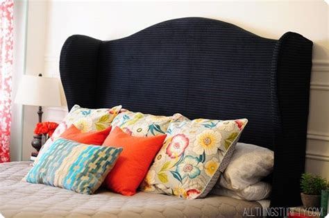 How To Make A Winged Headboard by Diy Wingback Headboard Tutorial With Free Pattern
