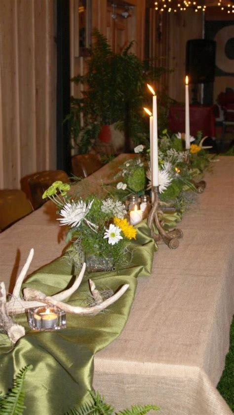 Hunting themed rehearsal dinner decorations   June 22