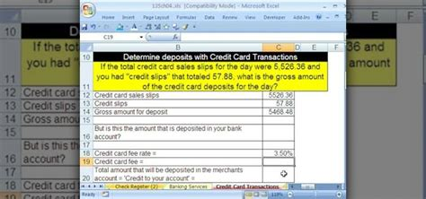 how to make credit card to credit card payment how to make credit card calculations with microsoft excel