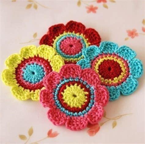 imagenes de flores tejidas a crochet como hacer flores tejidas a crochet imagui crochet