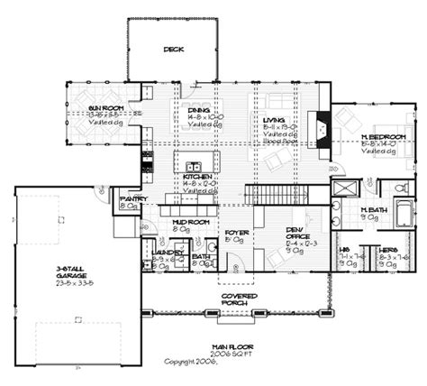 craftsman style house plan 3 beds 2 5 baths 3392 sq ft