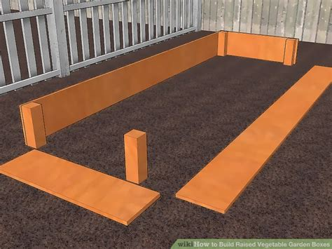 ways  build raised vegetable garden boxes wikihow