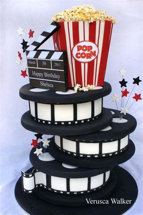 themes in film movie star movie night cake ideas movie reels cakes