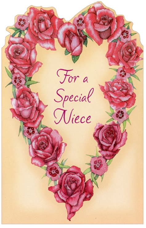happy valentines day niece images of roses niece 1 card 1 envelope freedom
