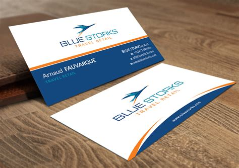 travel business card template with wavy designs bold feminine business card design for blue storks s p r