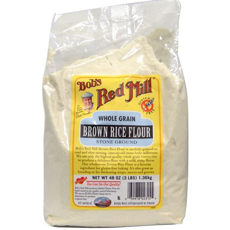 Bob's Red Mill, Brown Rice Flour, 48 oz (1.36 kg)   iHerb.com