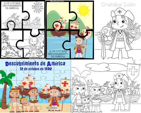 imagenes de octubre para niños dibujos y rompecabezas del descubrimiento de am 233 rica 12 de