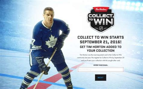 Tim Hortons Sweepstakes - the timhortons com collect to win hockey contest sweepstakes pit