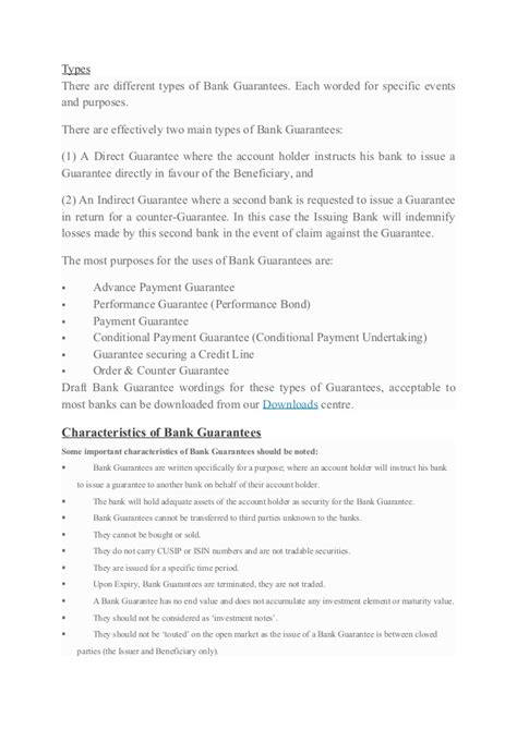Guarantee Performance Letter Leasing Bank Guarantee