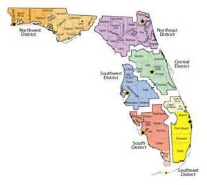 florida city map boundaries district office florida dep