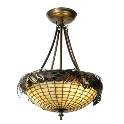 oak ceiling light fixture meyda 12697 tiffany greenbriar oak acorn semi flush
