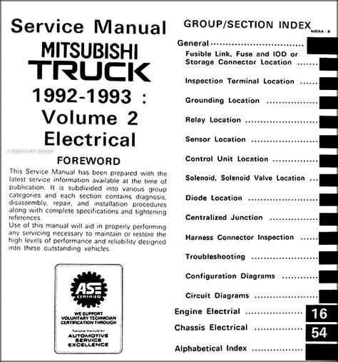 free service manuals online 1992 mitsubishi mighty max spare parts catalogs 1992 1993 mitsubishi mighty max truck repair shop manual set original