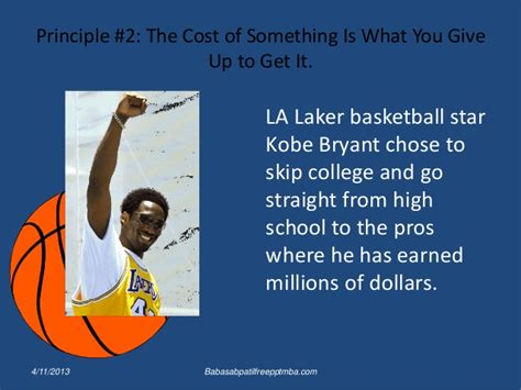 Mba Meaning Basketball by Ten Principles Of Economics Ppt Mba