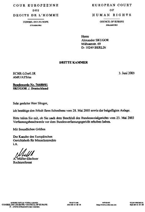 Schreiben Stellungnahme Muster European Court Of Human Rights Alles Wissenswerte 252 Ber Psychiatrie