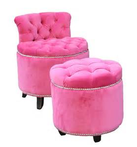 Closet Chairs Midtown Girl Closet Pink Tufted Vanity Chair Amp Stool Midtown Girl