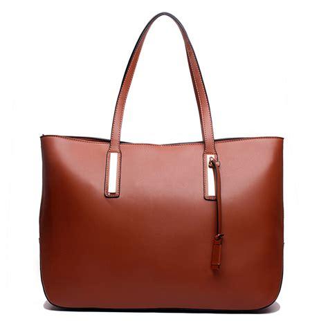 l1435 miss lulu leather look large shoulder tote bag brown