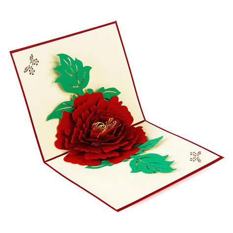 3 Up Gift Certificates 3 Up Photo Cards Photoshop Templates by 3d Pop Up Peony Flower Handmade Diy Best Wish