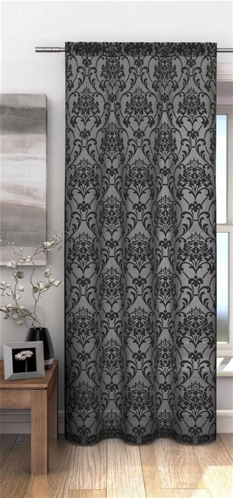 damask voile curtains chelsea burn out damask pattern voile net curtain panel