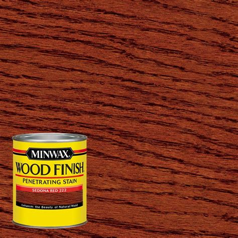 Home Depot Interior Doors Sizes Minwax 1 Qt Wood Finish Sedona Red Oil Based Interior