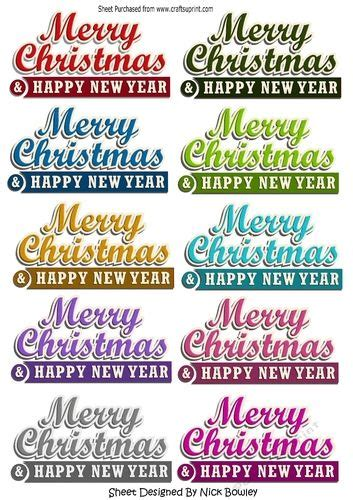 merry christmas happy  year banners  nick bowley  merry christmas happy  year