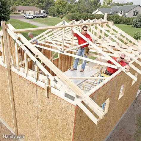 Shed Building Guide by Diy Storage Shed Building Tips The Family Handyman