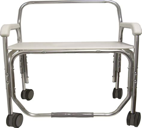 medline convaquip bariatric aluminum bath bench no