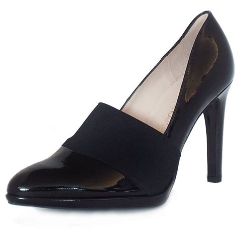 Heels Stiletos kaiser uk horta black crackle patent stiletto pumps