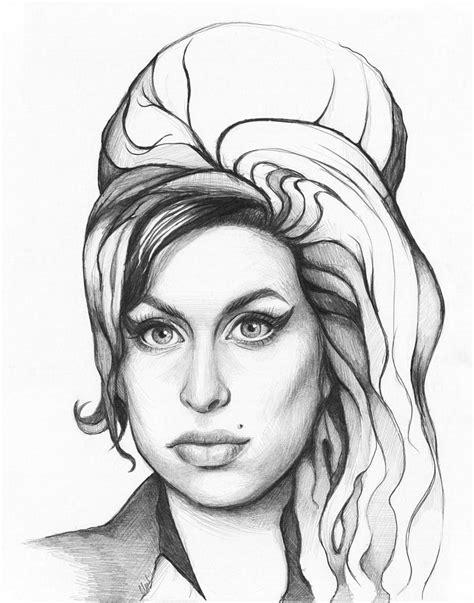 House Decor App by Amy Winehouse Drawing By Olga Shvartsur