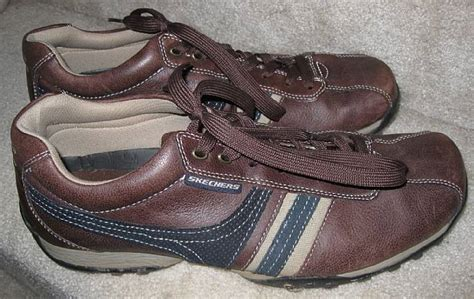 sketchers mens brown casual walking shoes size 11