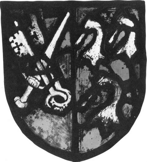 heraldic panel arms of edmund lacy bishop of exeter