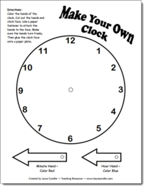 Make Your Own Paper Clock - candler s time measurement file cabinet