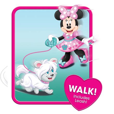 minnie mouse walk and play puppy just play minnie s walk play puppy feature plush toys