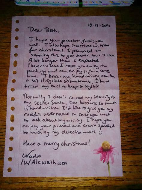 secret letter letters about soldiers secret santa stunned by secret